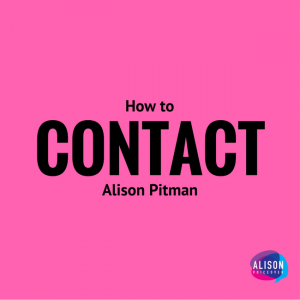 Contact Alison Pitman